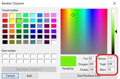 RGB Kodları